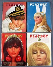 Vintage Playboy Bunny Magazine August November & December 1966 1969 Jane Fonda