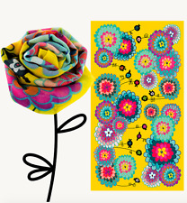Pylones Scarf Dahlia Print Floral Yellow Spring Summer Fashion Accessories