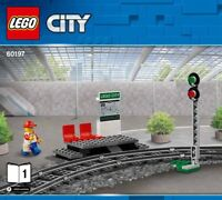 LEGO Train Station Platform & Signal NEW With Minifigure From Set 60197