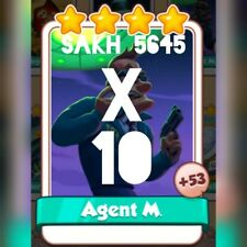10 x Agent M :- Area 51 New set :- Coin Master Cards