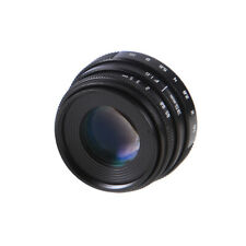 35mm F1.6 CCTV Camera Lens W/Adapter C Mount for Canon EOS EF 80/7/60D 600D 750D