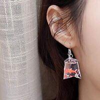 Lustige Goldfisch Ohrringe, Wasserbeutel Geformt Haken Ohrringe Faszination S KK