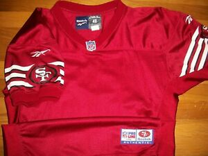 1996 San Francisco 49ers Blank Team Issue Authentic Game Jersey Sz 48 Reebok Vtg