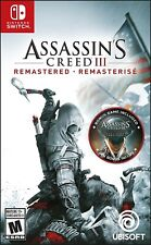 NINTENDO SWITCH - ASSASSIN'S CREED 3 REMASTERED BRAND NEW SEALED GAME