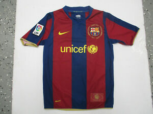 VINTAGE NIKE FC BARCELONA Thierry Henry #9 MEDIUM YOUTH JERSEY 2007 KIT WOMENS
