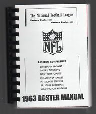 1963 NFL EASTERN CONFERENCE ROSTER MANUALS/REPRO
