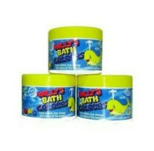 Willy's Kid's Bubble Bath Colours 45g  x 3 Pack NEW Non toxic,stain free.