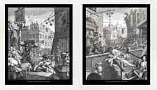 William Hogarth, Gin Lane and Beer Street, 10x12 prints