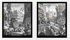 William Hogarth, Gin Lane and Beer Street, 10x12 prints