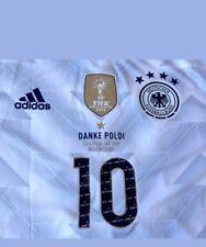 Trikot Adidas DFB 2016-2018 Home - Danke Poldi  Podolski Abschied Gr.L Neu