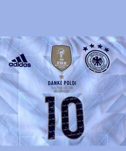 DFB 2016-2018 Home - Danke Poldi  Podolski Abschied Flock NEU