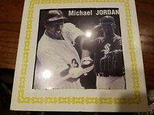 New listing RARE Michael Jordan 6 x 6 Carnival State Fair Glass Picture Baseball Chicago Sox