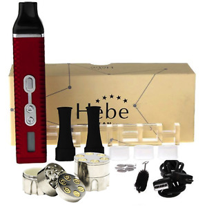 Hebe Titan 2 Dry Herbal Vaporizer 2200mAh, Large Chamber, Red *FREE GRINDER*