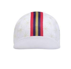 Rapha Wiggins ReplicaCycling Cap - White W Multicolor StripesNew W Tag- One Size