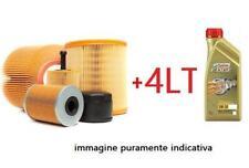 KIT TAGLIANDO FILTRI + OLIO CASTROL VW POLO 6R 6C 1.4 TDI 55KW DAL 2014