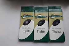 3 Pairs Character 15 denier Navy blue nylon tights. One size