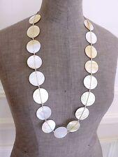 De Colección opalescente Madre de Perla Shell anudada Gruesa Collar Largo Cinturón