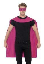 Pink Superhero Cape & Eye Mask Super Hero Kit Fancy Dress Costume Smiffys 44950