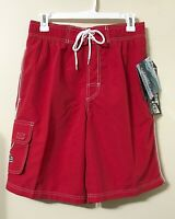 Original Watermen Mens Red Swim Trunk Shorts Boardshorts Lifeguard 30 inch Waist