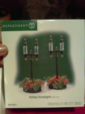 """Dept. 56 Christmas In The City """"Holiday Streetlights� New! small wear to box"""
