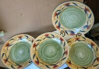 "Set of 4 Dinner Plates By Pier 1 in the Elizabeth Pattern 11 5/8"" -"