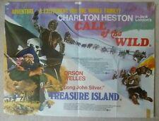 CALL OF THE WILD  /   TREASURE ISLAND .1972 DOUBLE BILL . UK QUAD