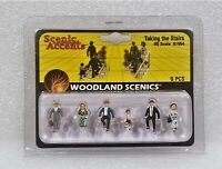 Woodland Scenics A1954 HO Scale Taking The Stairs, 6 pcs. New.