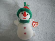 SNOWGIRL the SNOW LADY - TY BEANIE BABY - NOVEMBER 30 BIRTHDAY - LADY SNOWMAN