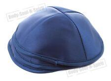 Lot of 3 Blue Satin Kippah Yarmulke Jewish Yamaka Kippa Israel Hat Covering Cap