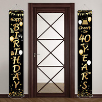 30/40/50/60/70th Birthday Party Decorations Cheers Welcome Porch Sign 70 x 12''