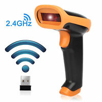 Premium 2.4G Wireless USB Automatic Barcode Scanner Scanning Barcode Label-CA