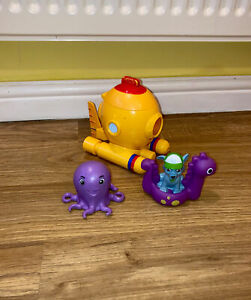 CAPTAIN TURBOT 'S PAW PATROL SUBMARINE BUNDLE ROCKY PUP FIGURE AND OCTOPUS TOYS