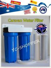 "Outdoor Boat Caravan Water Filter System + Bracket + Filter (3/4"" Brass Port)"