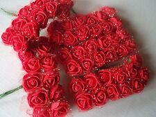 Romantisch 2 X 12 Diorröschen Satinröschen Rosen Hochzeit Bordeaux Kopfschmuck Möbel & Wohnen Hochzeitsdekoration
