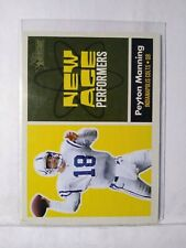 New listing 2001 TOPPS HERITAGE FOOTBALL NEW AGE PERFORMERS PEYTON MANNING #NA4 MINT F1966
