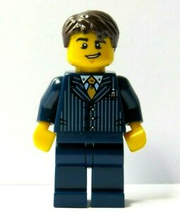 Lego Minifigure Dark Blue Suit Pinstripe Jacket  Business Wedding Groom