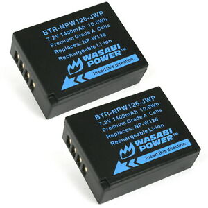Wasabi Power Battery (2-Pack) for Fujifilm NP-W126, NP-W126S