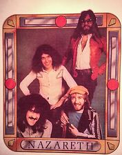 1970's NAZARETH band Heavy metal hard rock hair dog vTg Orig t-shirt iron-on NOS