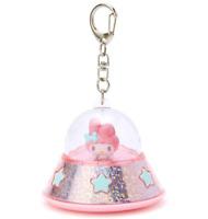 JAPAN Sanrio My Melody Rabbit Pink UFO KeyChain Clip to Bag LED Light Flashlight