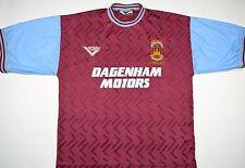 "1994 West Ham United ""BOBBY MOORE testimonianza"" PONY HOME FOOTBALL SHIRT (taglia l)"