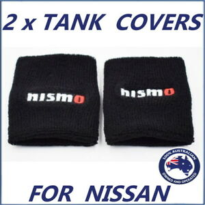 for NISMO Reservoir Sock Clutch Brake Oil Fluid Tank Cover x 2; SkylineNissan