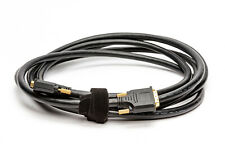 DVI to DVI Cable Gold Plated Monitor Cable Adapters 15 Feet Black