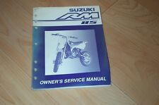 2002 Rm85 Rm 85 Suzuki Repair Service Manual Motorcycle Atv Quad