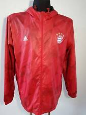 Bayern Munich Windbreaker Soccer Jacket Hoodie Adidas Men's Size XL RED