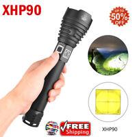 Waterproof 5000lm 50W XHP90LED Flashlights Glare Flashlight with Hand Rope 2019