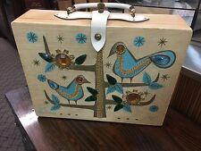Vintage 1960's Enid Collins of Texas FOR THE BIRDS Wooden Box Bag HANDBAG Purse
