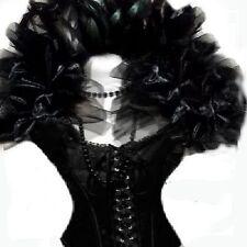 HALLOWEEN BLACK FEATHER DRAG CABARET DIVA QUEEN BURLESQUE GOTH SHRUG BOA COLLAR