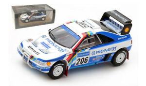 Spark S5617 Peugeot 405 T16 2nd Paris Dakar Rally 1989 - Jacky Ickx 1/43 Scale