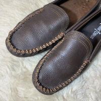 Minnetonka Men's Leather Venetian Slip-On Loafer Dark Brown, 10.5 US Style 962