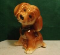Vintage 1950s Royal Copley Ceramic Art Pottery Brown Puppy Dog Figurine Statue